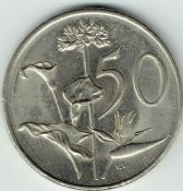 South Africa, 50 Cents 1984, VF, WO2783